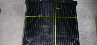 Радиатор новый, размеры 58 см / 51 см