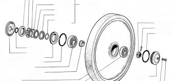 Рем.комплект на ленивец  JCB 330  jsa 0131